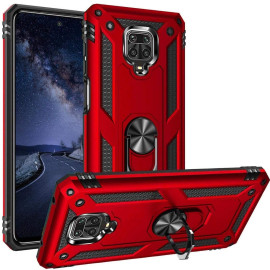 Vaku ® Xiaomi Redmi Note 9 Armor Ring Shock Proof Cover with Inbuilt Kickstand