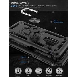 Vaku ® Samsung Galaxy S9 Plus Armor Ring Shock Proof Cover with Inbuilt Kickstand