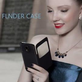 Baseus ® Samsung Galaxy S5 Finder Dot Design S-View Faux Leather Flip Case Flip Cover