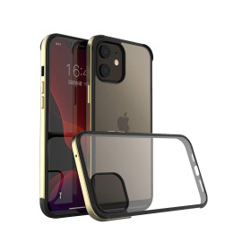 Vaku ® Compatible for iPhone 12 Mini Royale Series Shockproof Ultra Slim Hybrid Hard PC+TPU+Aluminium Bumper, Dual Protection Shockproof Case Cover