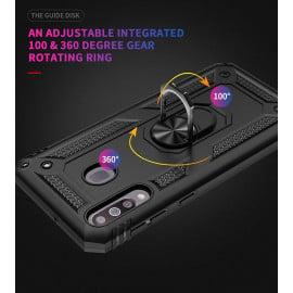 Vaku ® Samsung Galaxy M30 Armor Ring Shock Proof Cover with Inbuilt Kickstand