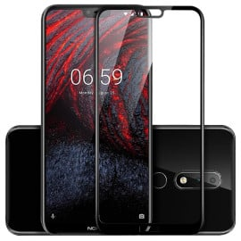 Dr. Vaku ® Nokia 7.1 Plus 5D Curved Edge Ultra-Strong Ultra-Clear Full Screen Tempered Glass-Black