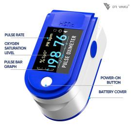 Dr Vaku ® Swadesi DV-P01 Pulse Oximeter Finger Blood Oxygen SpO2 Monitor FDA CE Approved