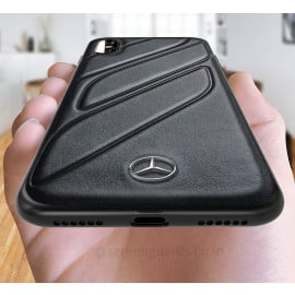 Mercedes Benz ® iPhone X CLA-CLASS Raven leather Back Cover