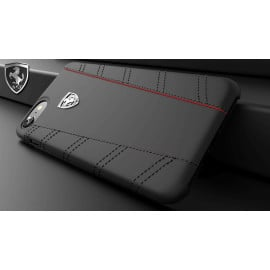 Ferrari ® Apple iPhone 7 Italian Series Leather Stitched Dual-Material PU Leather Back Cover