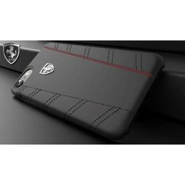 Ferrari ® Apple iPhone SE 2020 Italian Series Leather Stitched Dual-Material PU Leather Back Cover