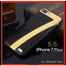 Hojar ® Apple iPhone 8 Plus Ultra Shine Mirror 7Plus Finish Dual-Textured Leather Silicon Grip Back Cover