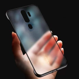 VAKU ® Oppo A9 2020 Frameless Semi Transparent Cover