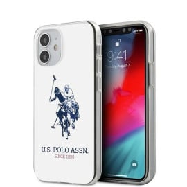 US Polo Assn ® Apple iPhone 12 / 12 Pro Ivory White Hard TPU Back Cover