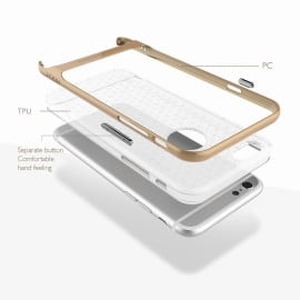 Rock ® Apple iPhone 6 Plus / 6S Plus Royle II Ultra-thin Dual Metal Finish Translucent Soft / Silicon Case