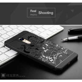 VAKU ® REDMI NOTE 4 3D Auspicious Dragon Crash-Proof Ultra Dragon Series Three-Layer Protective Hard Silicon Cover with Impact Absorbing Rubber Rim & Clear Back Panel