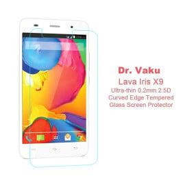 Dr. Vaku ® Lava Iris X9 Ultra-thin 0.2mm 2.5D Curved Edge Tempered Glass Screen Protector Transparent