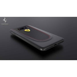 Ferrari ® Samsung S8 Official 599 GTB Logo Double Stitched Dual-Material Pure Leather Back Cover