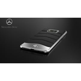 Mercedes Benz ® Samsung Galaxy S8 Plus Concept S Coupe Series Electroplated Metal + Leather Hard Case Back Cover