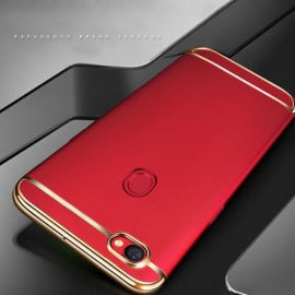 Vaku ® Oppo F7 Ling Series Ultra-thin Metal Electroplating Splicing PC Back Cover