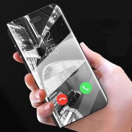Vaku ® Samsung Galaxy S9 Plus Mate Smart Awakening Mirror Folio Metal Electroplated PC Flip Cover