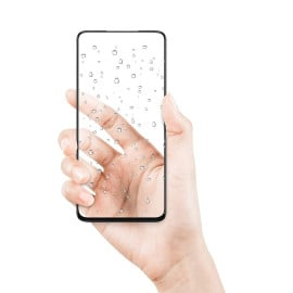 Dr. Vaku ® Oppo A74 Full Edge-to-Edge Ultra-Strong Ultra-Clear Full Screen Tempered Glass- Black