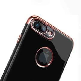 Shengo ® Apple iPhone 7 Plus Onyx Black Liner Series 2K Electroplated Finish Logo Display TPU Back Cover