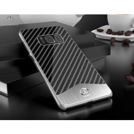 Mercedes Benz ® Samsung Galaxy S8 SLR McLaren Carbon Fibre (Limited Edition) Electroplated Metal Hard Case Back Cover