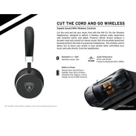 Lamborghini ® Diablo NW01 On-Ear Headphones Wireless Bluetooth Headset