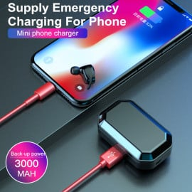 VAKU ® True Touch Hi-TWS L Wireless HD-STEREO Earphones with Bluetooth 5.0 + EDR + 3000 mAh