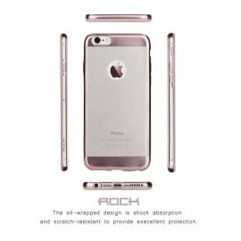 Rock ® Apple iPhone 6 Plus / 6S Plus Flame Line Series Metal Electroplated Transparent TPU Soft / Silicon Case