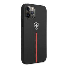 Ferrari ®  Apple iPhone 12 / 12 Pro / 12 Pro Max Roma Series Leather Hard Case Back Cover