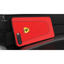 Ferrari ® Apple iPhone 8 Official California T Series Double Stitched Dual-Material PU Leather Back Cover