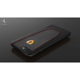 Ferrari ® Apple iPhone 8 Plus Official California T Series Double Stitched Dual-Material PU Leather Back Cover