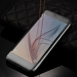 Vaku ® Samsung Galaxy A9 Pro Mate Smart Awakening Mirror Folio Metal Electroplated PC Flip Cover