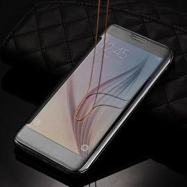 Vaku ® Samsung Galaxy J7 Nxt Mate Smart Awakening Mirror Folio Metal Electroplated PC Flip Cover