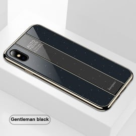 VAKU ® Apple iPhone XS Max Galaxy Focus Series 9H hardness Glass Overlay Back Cover