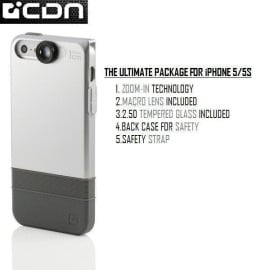 CDN ® Apple iPhone 5 / 5S / SE 2in1 Inbuilt Macro Zoom Lens Kit + Dual Protection Case Back Cover