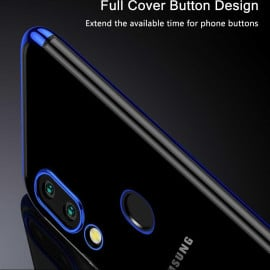 Vaku ® Xiaomi Redmi Note 7 / Note 7 Pro CAUSEWAY Series Electroplated Shine Bumper Finish Full-View Display + Ultra-thin Transparent Back Cover