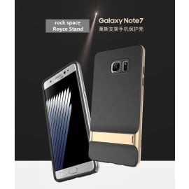 Rock ® Samsung Galaxy Note 7 Royle Case Ultra-thin Dual Metal + inbuilt Stand Soft / Silicon Case