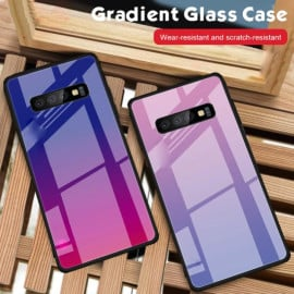 VAKU ® Samsung Galaxy S10 Plus  Dual Colored gradient effect at the back with shiny mirror effect back cover