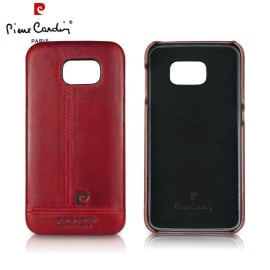 Pierre Cardin ® Samsung Galaxy S6 Paris Design Premium Leather Case Back Cover
