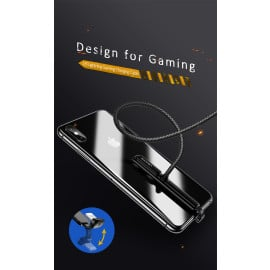 USAMS ® Gaming Series & 90 degrees Bending Fast charging Lightning data cable for iPhone XS Max