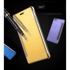 Vaku ® Xiaomi Redmi Note 4 Mate Smart Awakening Mirror Folio Metal Electroplated PC Flip Cover
