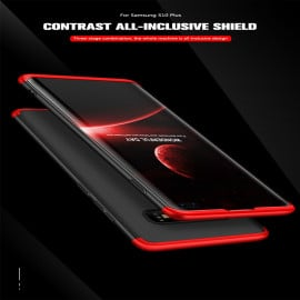 GKK ® Samsung Galaxy S10 Plus 3-in-1 360 Series PC Case Dual-Color Finish Ultra-thin Slim Front Case + Back Cover
