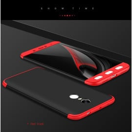 FCK ® Redmi Note 4 5-IN-1 360 Series Silicon Case Dual-Colour Finish 3-in-1 Ultra-thin Slim Front Case + Tempered + Back Cover
