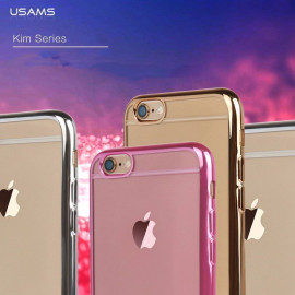 Usams ® Apple iPhone 6 / 6S Kim Ultra Clear Invisible View Metal Electroplated Transparent PC Back Cover