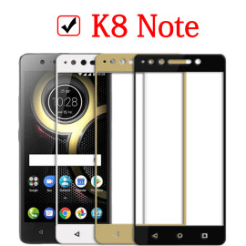 Dr. Vaku ® Lenovo K8 Note 5D Curved Edge Ultra-Strong Ultra-Clear Full Screen Tempered Glass Black