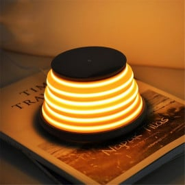VAKU ® 2-in-1 Flexible 5-color Switching Night Light + Wireless Qi Charger