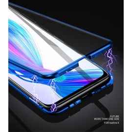 Vaku ® Oppo Realme X  Electronic Auto-Fit Magnetic Wireless Edition Aluminium Ultra-Thin CLUB Series Back Cover