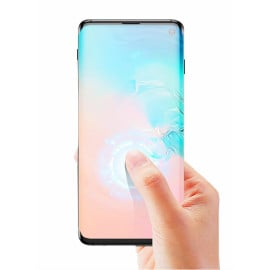 Dr. Vaku ® Samsung Galaxy S10 Plus 5D Curved Edge Ultra-Strong Ultra-Clear Full Screen Tempered Glass-Black