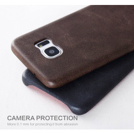 Usams ® Samsung Galaxy S7 Edge Ultra-thin Elegant Grained Leather Case Back Cover
