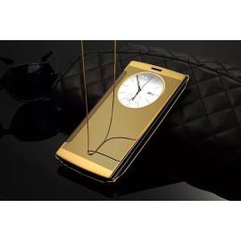 Vaku ® LG G4 Mate Smart Awakening Mirror Folio Metal Electroplated PC Flip Cover