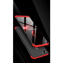 FCK ® Oppo F7 5-in-1 360 Series PC Case Dual-Colour Finish Ultra-thin Slim Front Case + Tempered + Back Cover