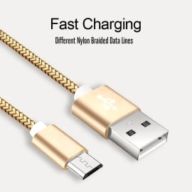 Vaku ® Android Micro-USB Nylon Braided Data-Charging Cable